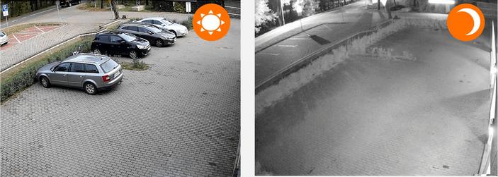 Kamera z własnym zasilaniem na Podczerwień Widok Dzień/Noc