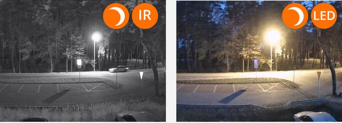 Kamera na Podczerwień Widok Noc oraz Noc w Kolorze(LED)