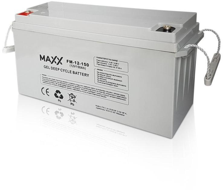 Akumulator żelowy Maxx 150Ah do paneli fotowoltaicznych