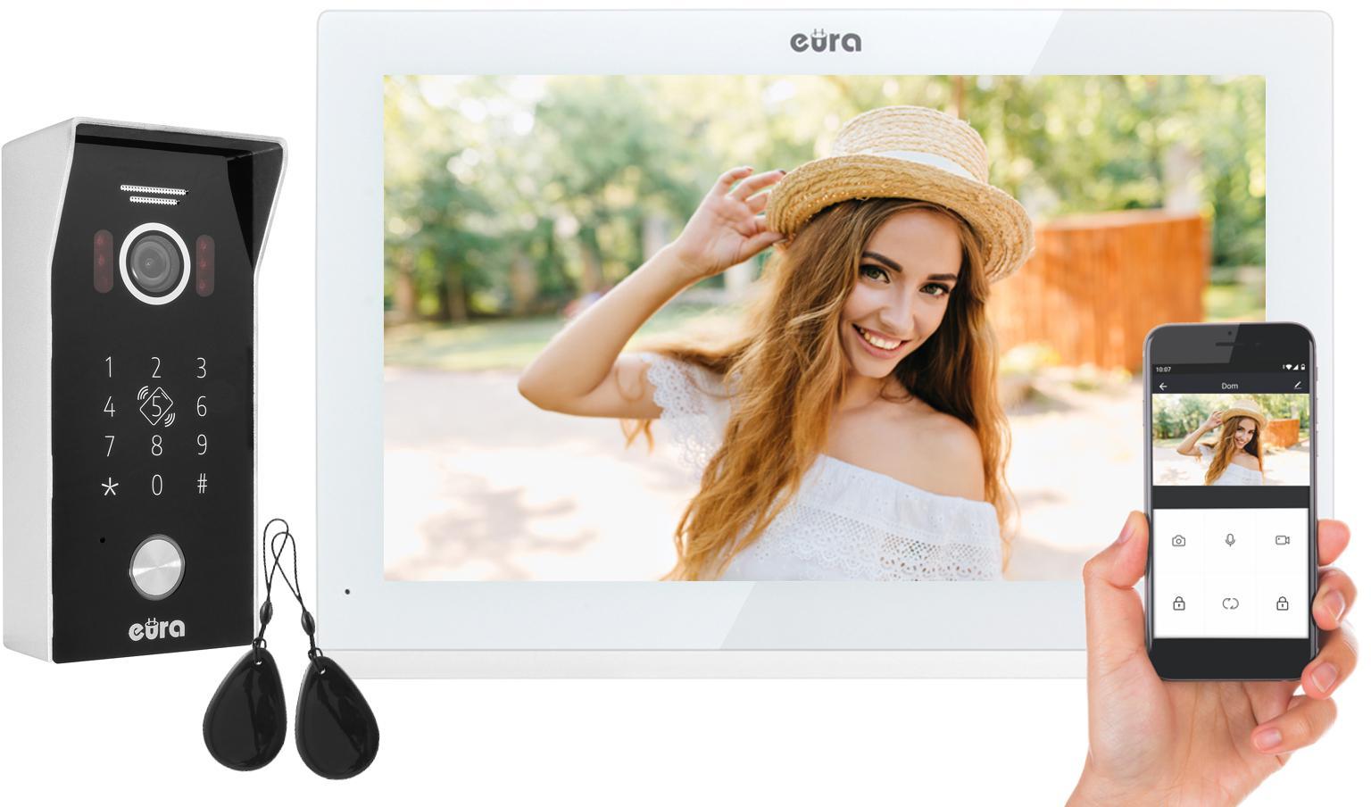 WIDEODOMOFON EURA VDP-99C5 biały, WiFi, RFID