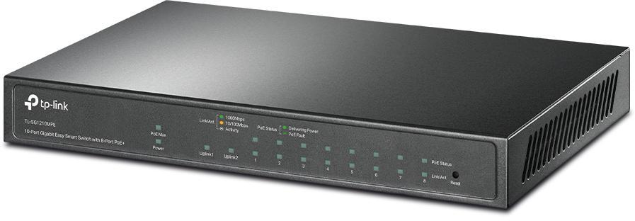 Profesjonalny przełącznik Easy Smart z ośmioma portami PoE+