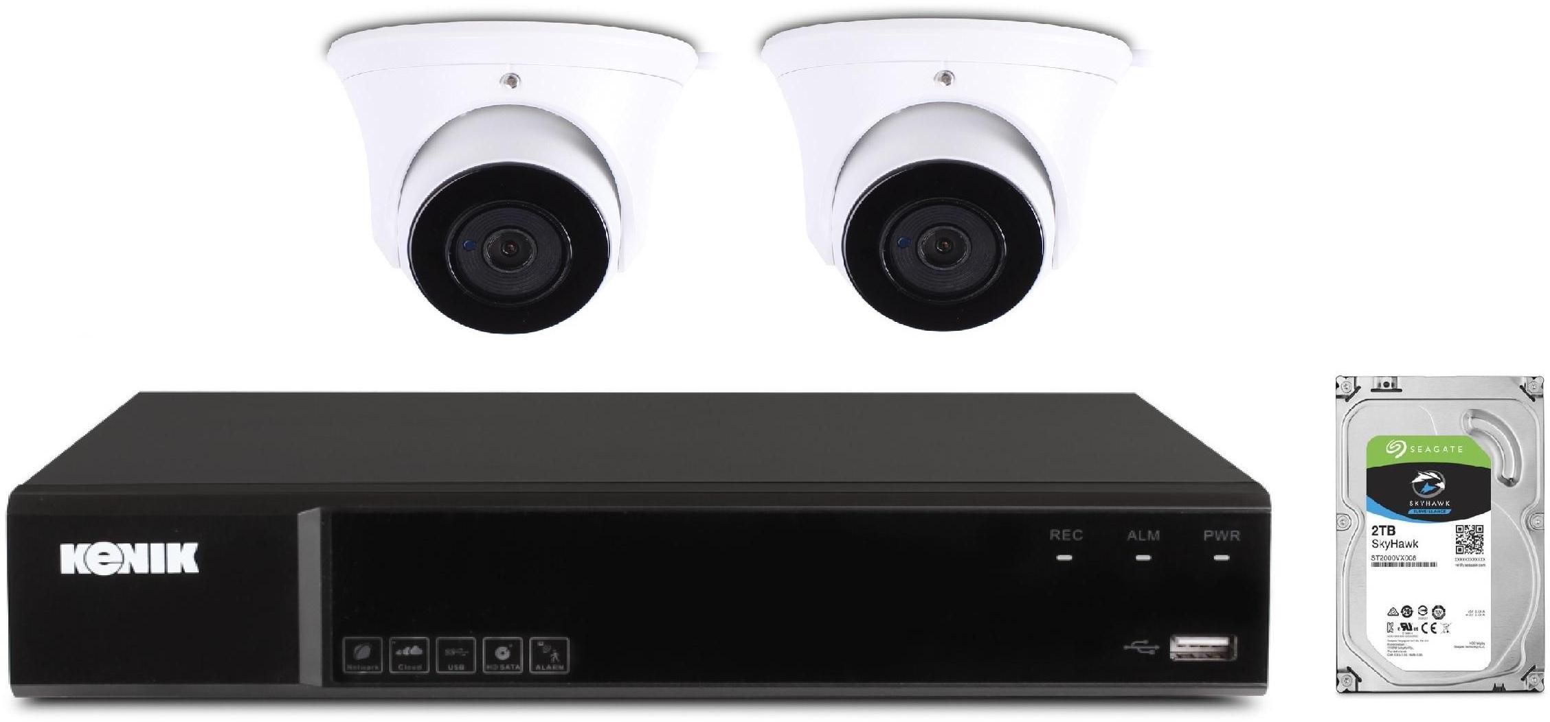Zestaw monitoringu domu Kenik 2 kamery 2mpx