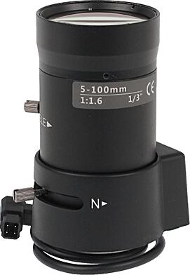 Obiektyw z automatyczną przesłoną ZOOM CS-5-100/DC AI 5-100mm DC F=1.6