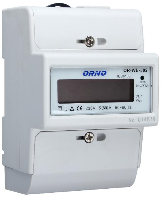 WSKAŹNIK ZUŻYCIA ENERGII ORNO WE-502 1-FAZOWY