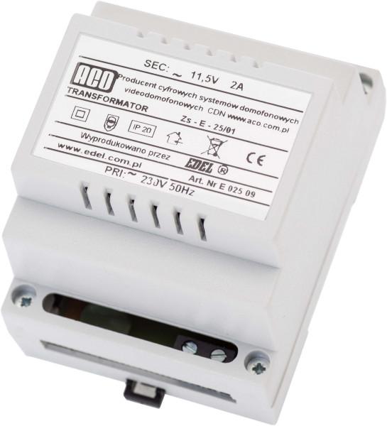 Transformator na szynę DINACO TR DIN 12V 2A