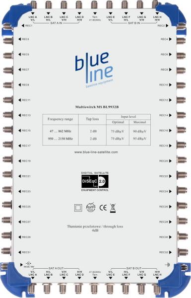 MULTISWITCH 9/32 MS BL932B BLUE LINE 9 WEJŚĆ/32 WYJŚCIA
