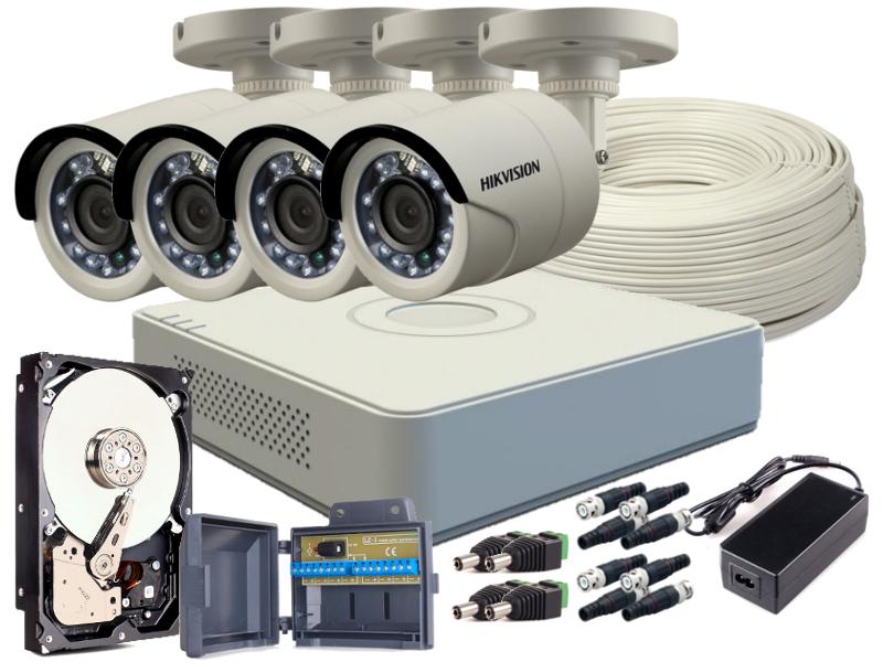 ZESTAW HD-TVI 4x KAMERA FULLHD, REJESTRATOR 4CH + DYSK 1TB