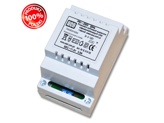 ACO TR DIN 12V 0,8A Transformator szyna DIN 9347