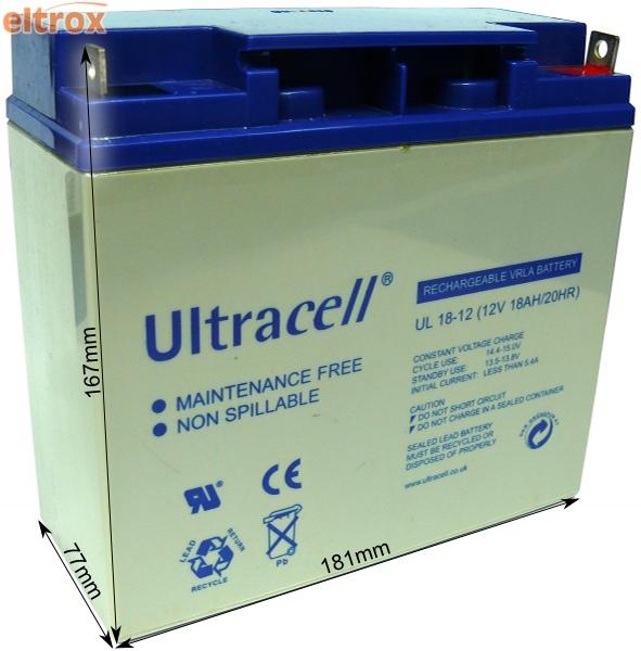 Akumulator żelowy Ultracell Limited UK 12V 18Ah 18000mAh
