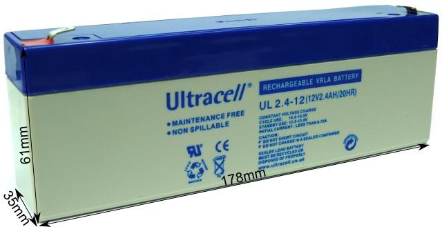 AKUMULATOR ŻELOWY ULTRACELL LIMITED UK 12V 2.4Ah / 2400mAh