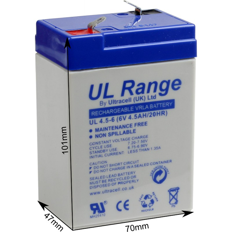 AKUMULATOR ŻELOWY ULTRACELL LIMITED UK 6V 4,5Ah / 4500mAh