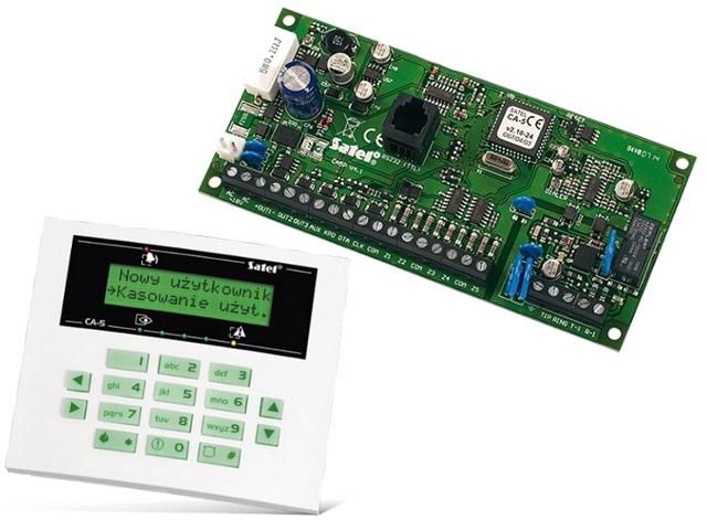 CENTRALA ALARMOWA SATEL CA-5P + MANIPULATOR SATEL LCD-S CA5