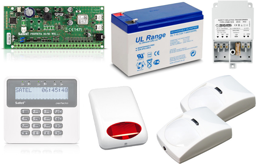 Zestaw alarmowy Satel perfecta 16 + 5 urządzeń