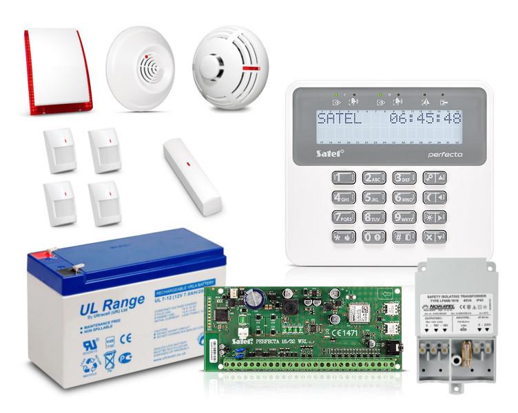 Zestaw SATEL PERFECTA16-SET, LCD, 4 x ruch, 1 x otwarcie, 1 x dym, 1 x czad