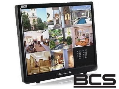 MONITOR DO TELEWIZJI PRZEMYSŁOWEJ BCS P1905M LED 2x BNC, VGA, HDMI