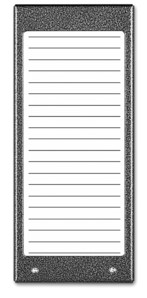 Podświetlany panel listy lokatorów ACO CDN-17N ST