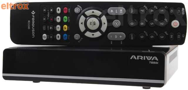 TUNER DVB-T FERGUSON ARIVA T650I HD MEDIA PLAYER, E-AC3 MPEG-2, MPEG-4, MPEG-4 AVC/H.264