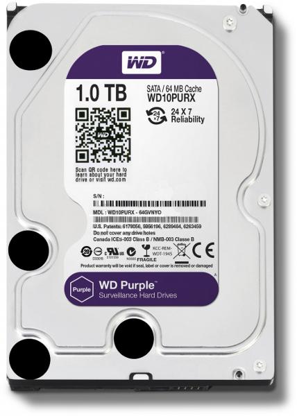 DYSK TWARDY WD PURPLE 3.5'' 1TB SATA/600 64MB
