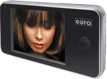 Wideo-wizjer do drzwi Eura VDP-01C1 ERIS kolor srebrny