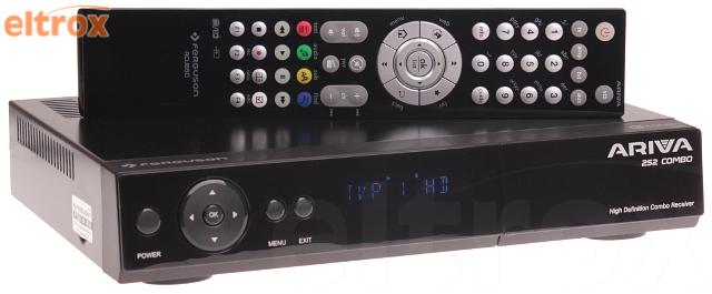 CYFROWY TUNER FERGUSON ARIVA 252 COMBO TV NAZIEMNA I SATELITARNA MPEG-2, MPEG-4, MPEG-4 AVC/H.264