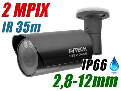 <b>8 x </b>KAMERA IP AVTECH AVM459A ROZDZIELCZOŚĆ 2 MPX 1080P