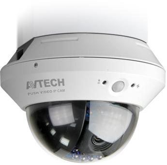 KAMERA IP AVTECH AVM808 ROZDZIELCZOŚĆ 1,3 MP (720p) 1280x1024 OBIEKTYW 3,8MM, IR DO 10M, ZAPIS NA SD, </br>PUSH VIDEO, CZUJNIK