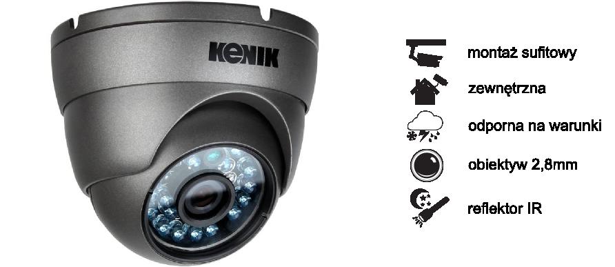 Kamera AHD Kenik KG-512SFPA 1200 LINII, IR 20 M, IP 66