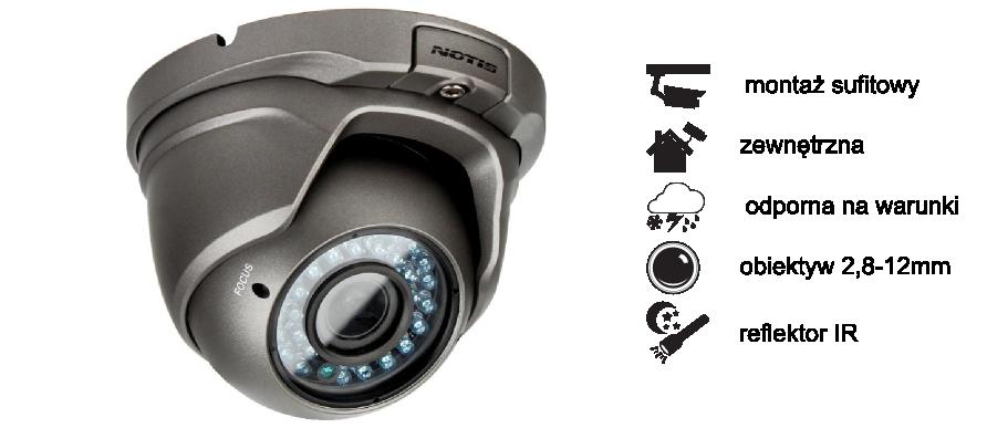 Kamera Notis HDCVI  NT-555G5 1080p 2,8-12mm
