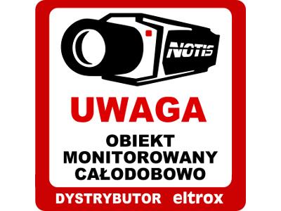 NAKLEJKA OBIEKT MONITOROWANY - GRATIS 6448
