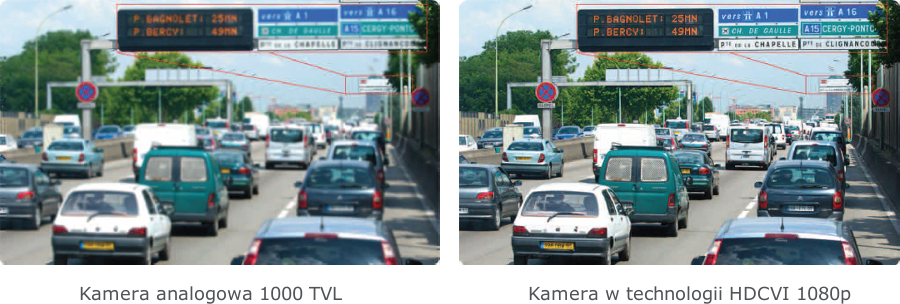 Obraz porównawczy kamery