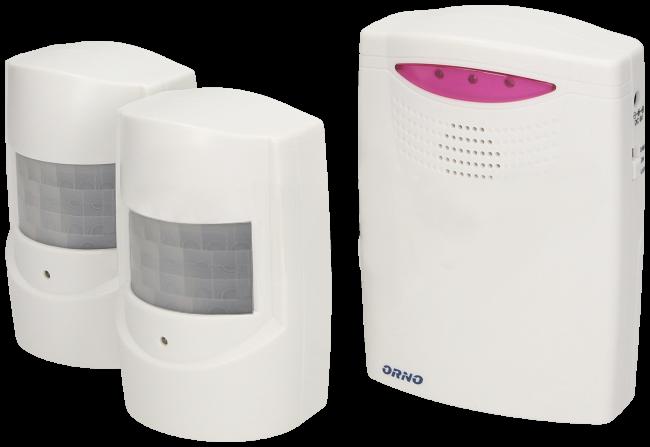 Sygnalizator wejść z dwoma czujnikami ruchu  ORNO OR-MA-710