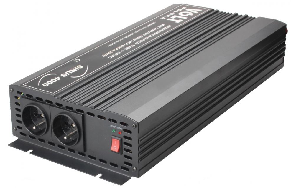 PRZETWORNICA SINUS 4000 24V / 230V 2000/4000W