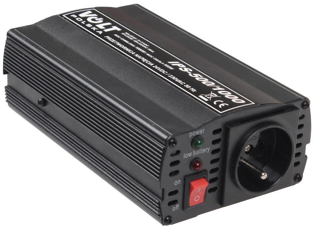PRZETWORNICA IPS-500/1000 24V / 230V 500/1000W