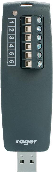 INTERFEJS PRZENOŚNY ROGER RUD-1 USB-RS485 WEWNĘTRZNA PRZETWORNICA NAPIĘCIA 12V 120mA