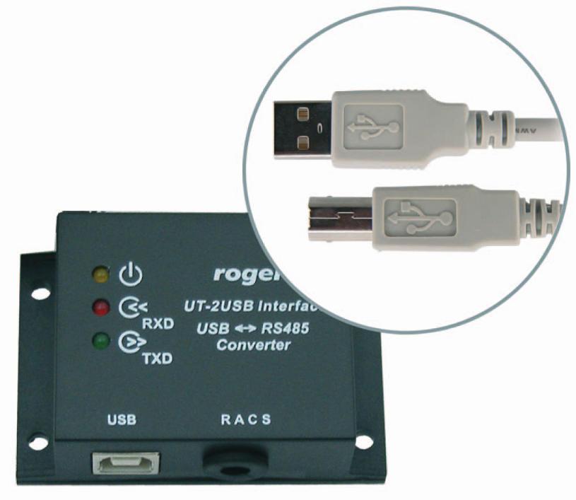 INTERFEJS KOMUNIKACYJNY ROGER UT-2 USB RS485