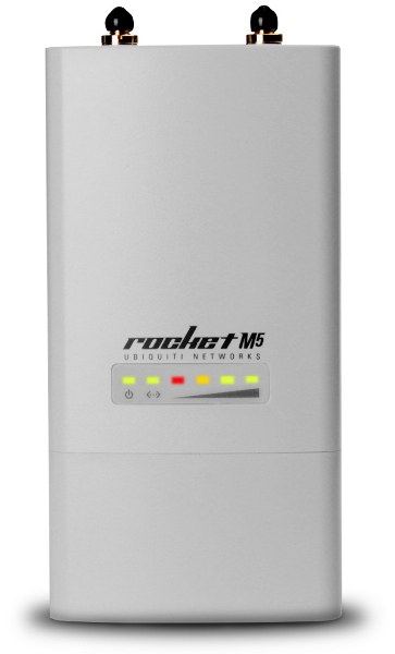 UBIQUITI NETWORKS ROCKET M5 HI POWER, 2x2 MIMO, AIRMAX, TDMA, BASESTATION PoE, 1xLAN 10/100Mbps