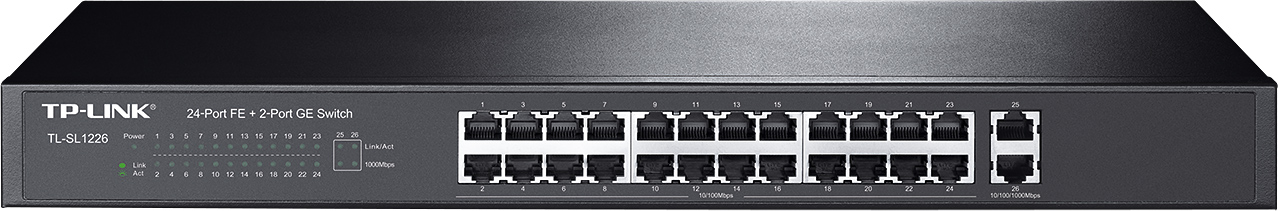 SWITCH TP-LINK TL-SL1226 24 PORTY 10/100MB/S + 2 PORTY GB
