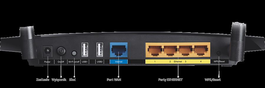 Dwa uniwersalne porty USB