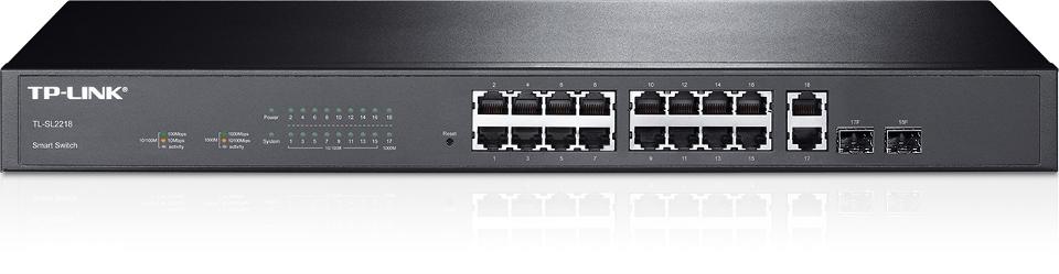 PRZEŁĄCZNIK SMART TP-LINK SL2218 16 PORTÓW 2GB 10/100 MB/S