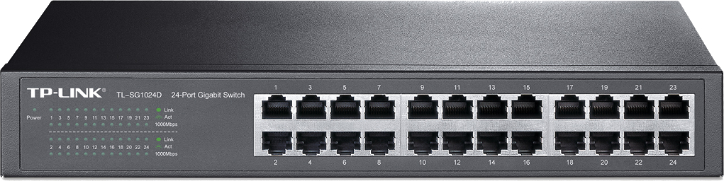 TP-LINK TL-SG1024D  SWITCH 24 PORTY GIGABITOWY