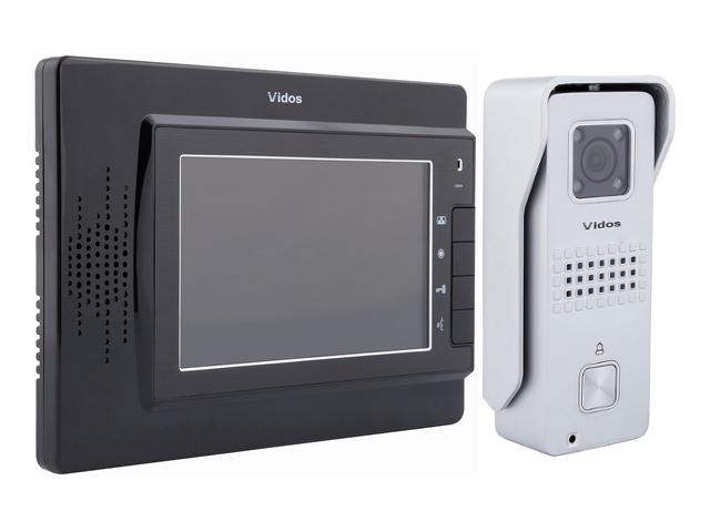 WIDEODOMOFON VIDOS M320B/S6S KOLOR MONITORA CZARNY