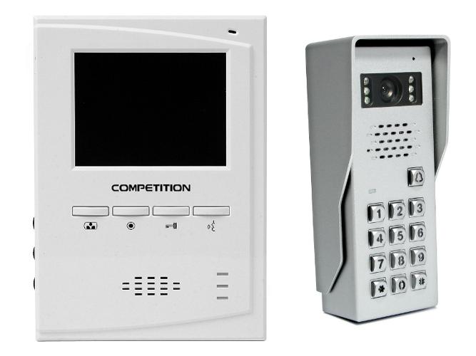 WIDEODOMOFON 1-RODZINNY 4'' COMPETITION SAC50C-CK/MT395C-CK2