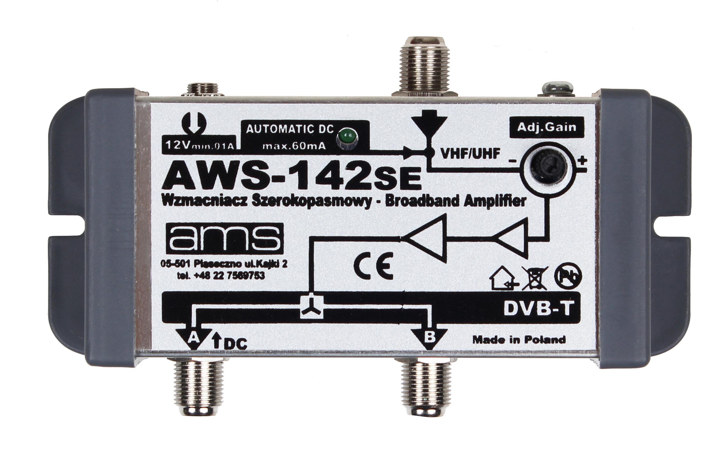 WZMACNIACZ ANTENOWY WEWNĘTRZNY DVB-T  AWS142SE