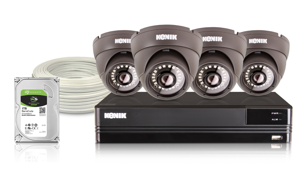 Kompletny zestaw monitoringu AHD Kenik 4 Kamery HD