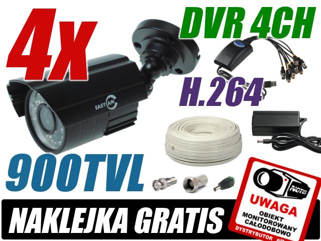 ZESTAW DO MONITORINGU OPARTY O KARTĘ DVR AXD USB04V-C 4 X VIDEO, 4 X AUDIO, 100KL/S, ZŁĄCZE USB