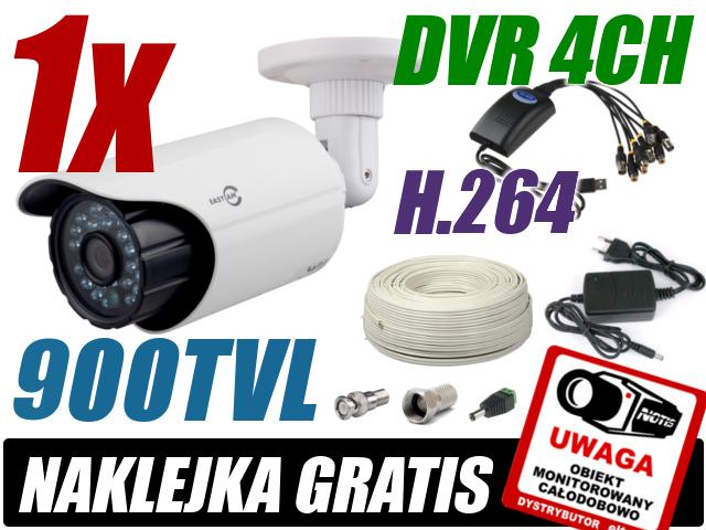 ZESTAW DO MONITORINGU OPARTY O KARTĘ DVR AXD USB04V-C