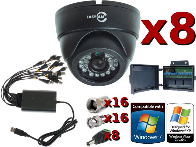 ZESTAW DO MONITORINGU OPARTY O KARTĘ DVR AXD USB08V4A-J 8 X VIDEO, 4 X AUDIO, 100KL/S, ZŁĄCZE USB