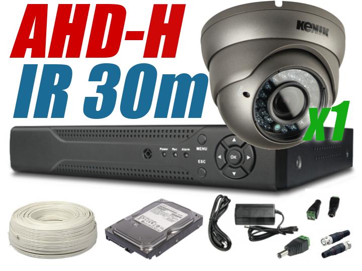 ZESTAW MONITORINGU AHD  720p/1080p 1 KAMERA