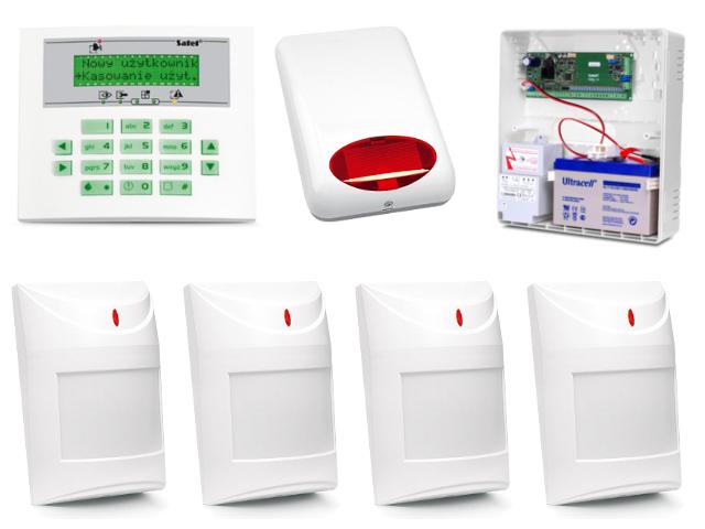 Zestaw alarmowy Integra 24 + 6 urządzeń.